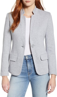 Gibson Notch Collar Cotton Blend Blazer