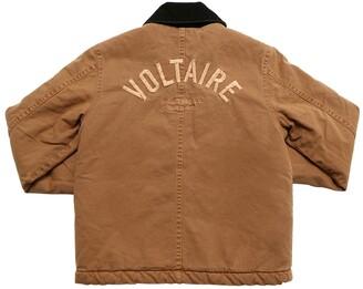 Zadig & Voltaire Embroidered Logo Cotton Denim Jacket