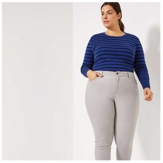 Joe Fresh Women+ Essential Stripe Tee, Dark Navy (Size 2X)