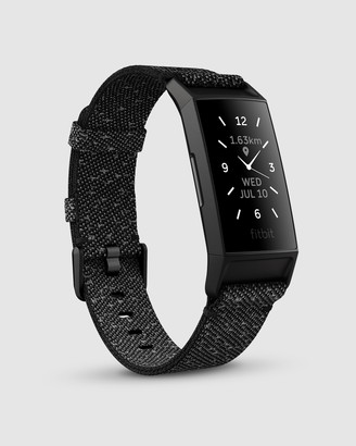 Fitbit Charge 4 Advanced Health and Fitness Tracker - Special Edition Granite Reflective Woven Band