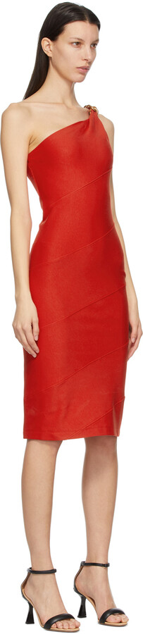 Thumbnail for your product : Givenchy Red Spiral Chain Dress