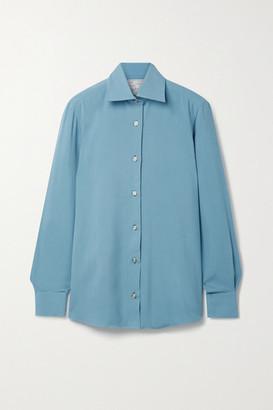 Giuliva Heritage Collection + Net Sustain The Elvira Silk Shirt - Sky blue