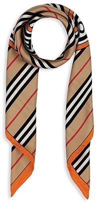 Burberry Icon Stripe & Logo Graphic Silk Scarf