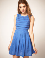 ASOS Summer Dress with Pleated Lace Bodice