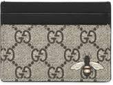Gucci Bee Print Gg Supreme Card Holder