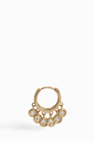 Jacquie Aiche Mini Diamond Shaker Hoop Earring