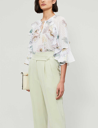 Ted Baker Woodland floral ruffle blouse