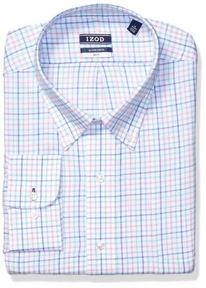 Izod Men's Tall Dress Shirts Stretch Check Big Fit