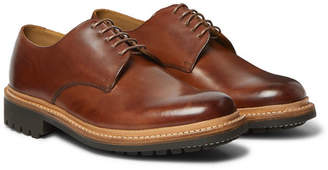 Grenson Curt Hand-Painted Leather Derby Shoes
