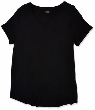 Amazon Essentials Plus Size Short-Sleeve V-Neck Tunic Shirt