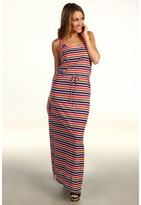 C&C California Striped Maxi Tank Dress (Desert Poppy) - Apparel