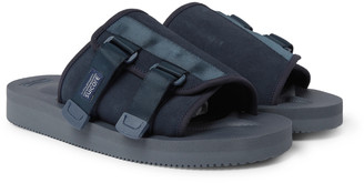 Suicoke Kaw-Vs Webbing-Trimmed Suede Sandals