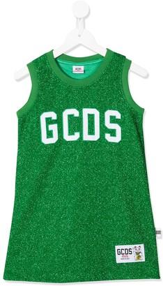 Gcds Kids Glitter Logo Jersey Tank