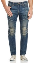 True Religion Rocco Moto Slim Fit Jeans in Dusty Rider