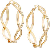 Fragments for Neiman Marcus Golden Infinity Wire Hoop Earrings