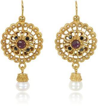 Alcozer & J Round Earrings w/Pearls