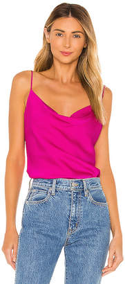 Milly Stretch Silk Gia Cowl Neck Cami