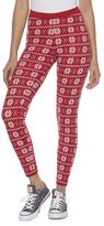 It's Our Time Juniors' Graphic Holiday Leggings