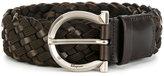 Salvatore Ferragamo woven Gancio belt - men - Leather - 90