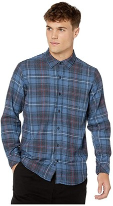 Hurley Vedder Washed Flannel (Mystic Navy) Men's Clothing