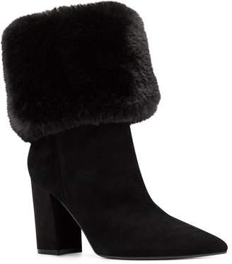 Nine West Cuffed Black Heel Booties -Chrissa