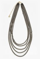 French Connection Metallic Carbon Chain Necklace
