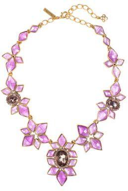 Oscar de la Renta Multi-Pink Crystal Necklace