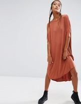 Asos Oversize T-Shirt Dress with Curved Hem