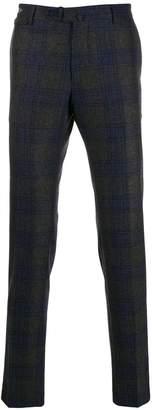 Tagliatore check pattern tailored trousers