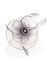 Quiz Grey Diamante Rose Fascinator