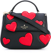 Kate Spade hearts shoulder bag - women - Leather/Polyester - One Size