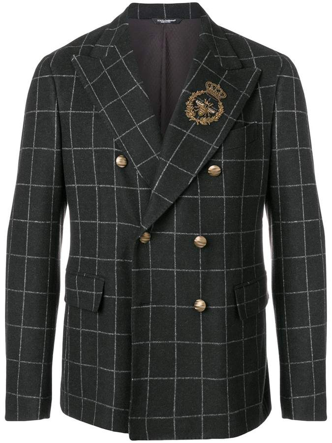 Dolce & Gabbana appliqué detail double breasted blazer