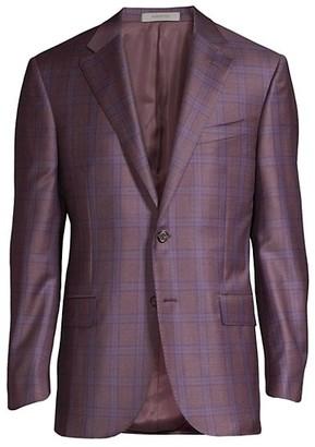 Corneliani Windowpane Wool Sportcoat
