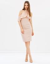 Karen Millen Draped Cold Shoulder Dress