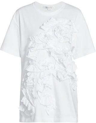 Comme des Garcons Textured Ruffle T-Shirt