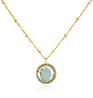 Auree Jewellery Barcelona August Birthstone Necklace Green Amethyst