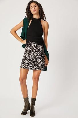 Maeve Graceann Leopard Mini Skirt