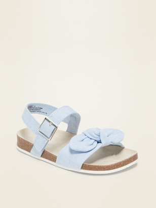 Old Navy Canvas Bow-Tie Sandals for Toddler Girls