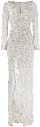 Loulou Bead-Embellished Gown