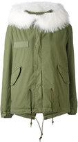 Mr & Mrs Italy - short parka coat - women - Cotton/Lamb Skin/Polyester/Racoon Fur - XXS