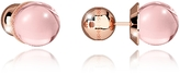 Rebecca Boulevard Stone Rose Gold Over Bronze Stud Earrings w/Pink Hydrothermal Stone