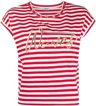Liu Jo Waves striped T-shirt