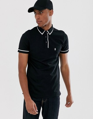 French Connection piping polo-Black