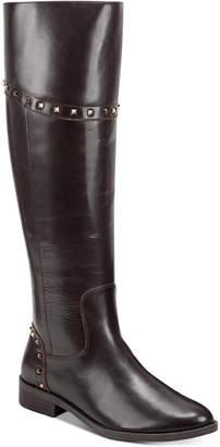 Marc Fisher Secalm Stud-Trim Boots Women Shoes