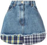Natasha Zinko patchwork denim skirt - women - Cotton - 36