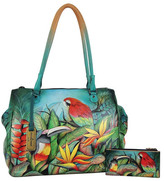 Anuschka Hand-Painted Leather Large Multi-Compartment Tote