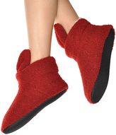 Angelina Maroon Bunny Ear Sherpa-Lined Slippers