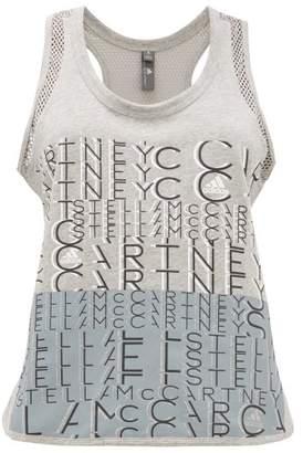 adidas by Stella McCartney Logo-print Mesh-back Tank Top - Womens - Grey