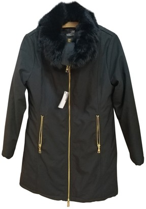 Moschino Love Black Rabbit Coat for Women