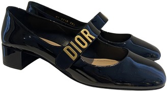 Christian Dior DiorDirection Black Patent leather Flats